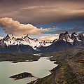 Cuernos Del Paine And Lago Pehoe by Colin Monteath