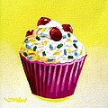 Cupcake With Cherries by John  Nolan
