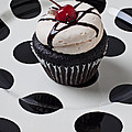 Cupcake With Cherry by Garry Gay