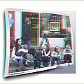 Curb Resting - Red-cyan 3d Glasses Required by Brian Wallace