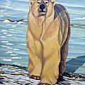 Curiosity - Polar Bear Painting by Kim Hunter