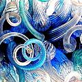 Curls Of Blue And Aqua by Christina A Pacillo