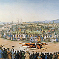 Currier & Ives: Racing, 1845 by Granger