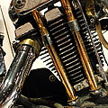 Custom Motorcycle Chopper . 7d13318 by Wingsdomain Art and Photography