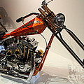 Custom Motorcycle Chopper . 7d13319 by Wingsdomain Art and Photography