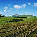 Cut Turf On A Landscape, Connemara by The Irish Image Collection
