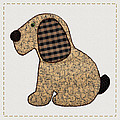 Cute Country Style Gingham Dog by Tracie Kaska