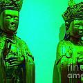 Cy-buddhas by Melanie D Cervantes