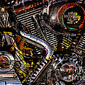 Cyberpunk Harley-davidson Modified In Abstract . 7d12658 by Wingsdomain Art and Photography