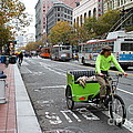 Cycle Rickshaw On Market Street In San Francisco by Wingsdomain Art and Photography