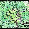 Dada Doodle In Green by Melissa Wyatt