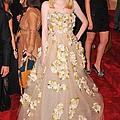 Dakota Fanning Wearing A Dress by Everett