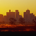 Dallas Skyline At Sunrise by Jeremy Woodhouse