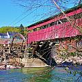 Damaged Covered Bridge by Sherman Perry