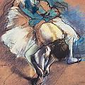 Dancer Fastening Her Pump by Edgar Degas
