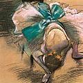Dancer Tying Her Shoe Ribbons by Edgar Degas