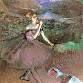 Dancer With Bouquest by Edgar Degas