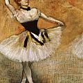 Dancer with Tambourine by Edgar Degas