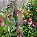 Dancing Girl In Flowers by Anita Burgermeister