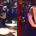 Dancing New Years Eve - Gently Cross Your Eyes And Focus On The Middle Image by Brian Wallace