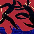 Dancing Scissors 24 by Shoshanah Dubiner