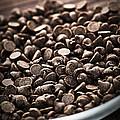 Dark Chocolate Chips by Elena Elisseeva