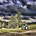 Dark Clouds Over The Farm by Douglas Barnard
