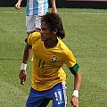 David And Goliath Lionel Messi And Neymar Junior by Lee Dos Santos