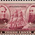 David Glasgow Farragut And David Porter Postage Stamp by James Hill