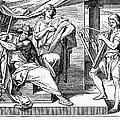 David Playing Harp by Granger