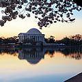 Dawn Over Jefferson Memorial by Brian Jannsen