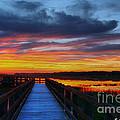 Dawn Skies At The Fishing Pier by Barbara Bowen