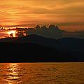 Day Ends In Orange by Susan Leggett