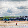 Daymer Bay Beach Landscape In Cornwall Uk by Simon Bratt Photography LRPS