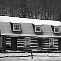 Days Of Yore Log Cabin by John Stephens