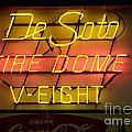 De Soto Fire Dome V Eight Neon Sign by Bob Christopher