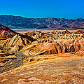 Death Valley From Zabriskie Point by Greg Nyquist