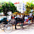 Decatur Street At Jackson Square by Bill Cannon