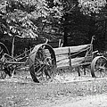 Decaying Wagon Black And White by Thomas Woolworth