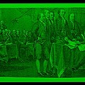 Declaration Of Independence In Green by Rob Hans