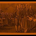 Declaration Of Independence In Orange by Rob Hans