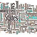 Declaration Of Independence Word Cloud by Day Williams