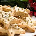 Decorated Christmas Cookies In Festive Setting by U Schade