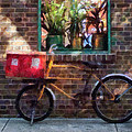 Delivery Bicycle Greenwich Village by Susan Savad