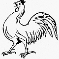 Democratic Rooster, 1840 by Granger