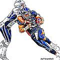 Denver Broncos Tim Tebow - New England Patriots Andre Carter by Jack K