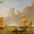 Deptford On Thames With A Distant View Of Greenwich by John of Hull Ward
