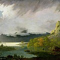 Derwent Water With Skiddaw In The Distance by Joseph Wright of Derby