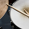 Detail Of Drumsticks And A Drum Kit by Antenna
