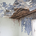 Deteriorating Ceiling In An Abandoned House by Jetta Productions, Inc